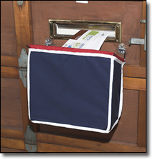 Wood Garage Door Mounted Mailbag